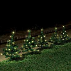 IdeaWorks Set of 5 Lighted Solar Pathway Christmas Trees