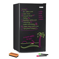 Igloo 3.2-Cubic Foot Dry Erase Board Single Door Refrigerator, Black