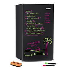Igloo 3.2-Cubic Foot Dry Erase Board Single Door Refrigerator, Black