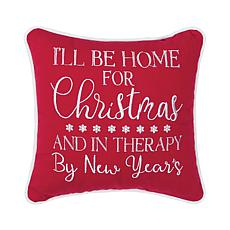 I'll Be Home Embroidered Pillow