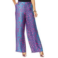 IMAN Boho Chic Printed Wide-Leg Pant with Pockets