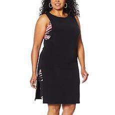 IMAN Boho Chic Two-Layer Dress