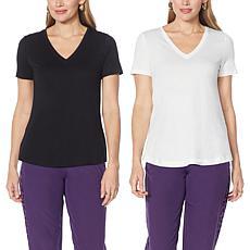 IMAN Global Chic 2-Pack Short-Sleeve Tees