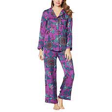 IMAN Global Chic 2-piece Medallion Paisley Print Pajama Set