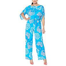 IMAN Global Chic Bateau-Neck Jumpsuit