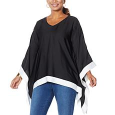 IMAN Global Chic Contrast Colorblock Poncho