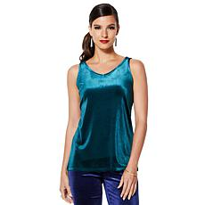 IMAN Global Chic Dressed & Ready Signature Velvet Tank