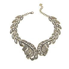 IMAN Global Chic Goldtone Leaf-Design Bib Necklace