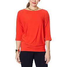 IMAN Global Chic Illusion Chic Dolman-Sleeve Top