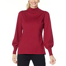 IMAN Global Chic Lantern-Sleeve Knit Top