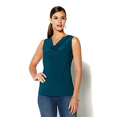 IMAN Global Chic Luxurious Cowl Neck Tank - Fashion