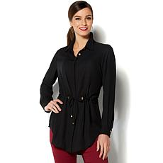 IMAN Global Chic Luxurious Drawstring Tunic
