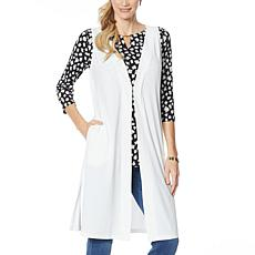 IMAN Global Chic Luxury Resort Duster Vest