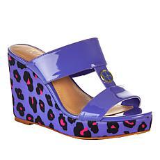 IMAN Global Chic Luxury Resort Leopard Wedge Sandal