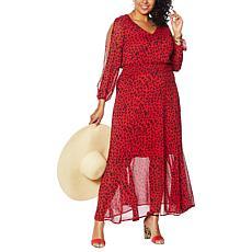 IMAN Global Chic Luxury Resort Printed Maxi Dress