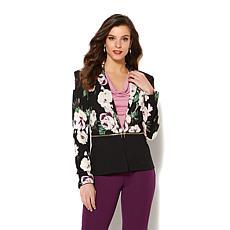 IMAN Global Chic Perfect Ponte Convertible Zip Blazer