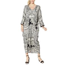 IMAN Global Chic Printed Caftan Dress
