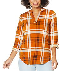 IMAN Global Chic Roll Tab Utility Top