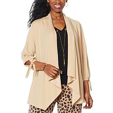 IMAN Global Chic Tie-Sleeve Jacket