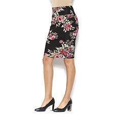 IMAN Global Chic Touch of Gold Power Ponte Slimming Skirt
