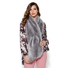 IMAN Platinum Wrap Yourself in Luxury Faux Fur Scarf