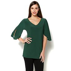 IMAN Runway Chic Luxurious Split-Sleeve Tunic