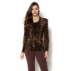 IMAN Runway Chic Ponte 2-in-1 Zipped Blazer