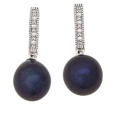 Imperial Pearls Cultured Pearl and Diamond Drop Earrings