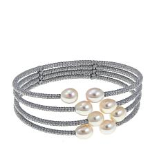 Imperial Pearls White Cultured Pearl 4-Row Bracelet