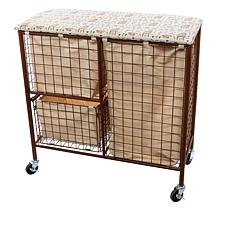 Improvements Flip-Top Wire Laundry Cart