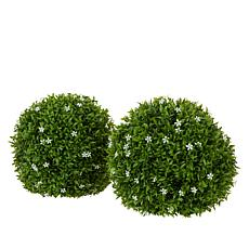 "Improvements Set of 2 13"" Floral Spheres"
