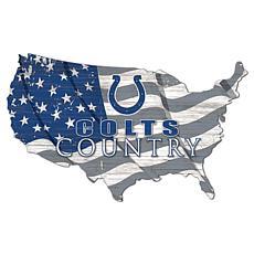 Indianapolis Colts USA Shape Flag Cutout