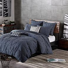 INK+IVY Masie Cotton 3pc Comforter Mini Set - Navy - King/Cal King