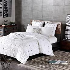 INK+IVY Masie Cotton 3pc Duvet Cover Mini Set - White - Full/Queen