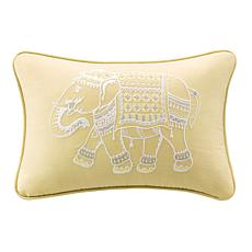 "INK+IVY Zahira Embroidered 12""x18"" Oblong Pillow-Yellow"