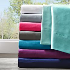 Intelligent Design Full Microfiber Wrinkle-Free Sheet Set--Purple