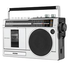 ION Audio Retro Rocker Boombox with Radio, Cassette Player & Bluetooth