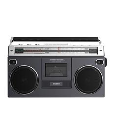 ION Audio Street Rocker Boombox w/Cassette Player, Radio & Bluetooth