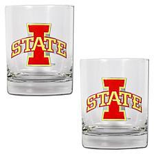 Iowa State Cyclones 2pc Rocks Glass Set