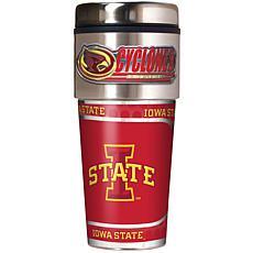 Iowa State Cyclones Travel Tumbler w/ Metallic Graphics and Team Logo