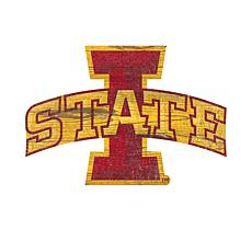 Iowa State  Distressed Logo Cutout Sign