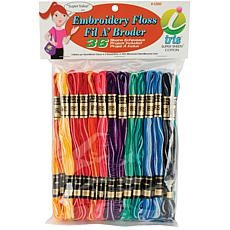 Iris Embroidery Floss Pack - 36 Skeins - Variegated Colors