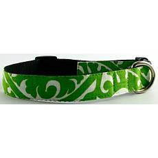 Isabella Cane Buddha Cotton Dog Collar - Green Small