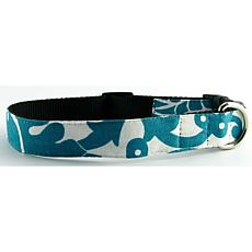 Isabella Cane Buddha Cotton Dog Collar - Turquoise XL