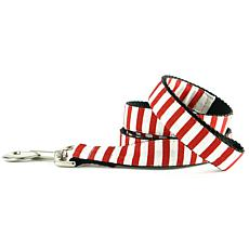 Isabella Cane Candy Cane Stripe Dog Leash - 5ft