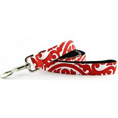 Isabella Cane Cotton Buddha Dog Leash - Red 5' x 3/4""