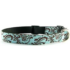 Isabella Cane Cotton Dog Collar - ChocoBlue M