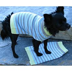 Isabella Cane Knit Dog Sweater - Stripes Medium