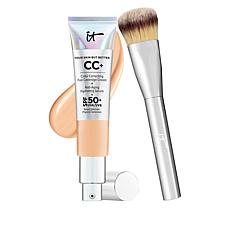 IT Cosmetics Neutral Med Full Coverage SPF 50 CC Cream w/Plush Brush