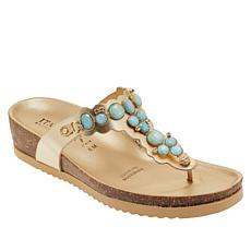 Italian Shoemakers Vixi Embellished Thong Sandal